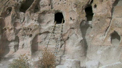 Anasazi Cave Dwellings-pans - stock footage