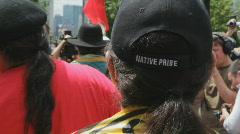 G20 Toronto. Native Pride. Stock Footage