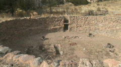 Anasazi Ceremony Pit-pans Stock Footage