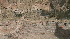 Anasazi Ruins Room-Trail-zoom - stock footage