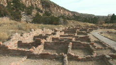 Anasazi Village Ruins Walls-zooms - stock footage