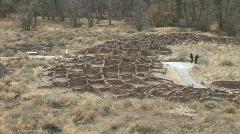 Anasazi Village Ruins-xws-zooms Stock Footage