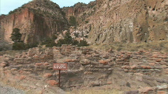 Anasazi Village Ruins-zooms - stock footage