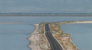 Stock Video Footage of Antelope Island Causeway-xws-zoom