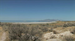 Antelope Island Landscape-xws-zoom Stock Footage