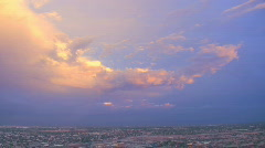 AZ monsoon 2010 - colorful desert storm clouds at dusk  - time lapse Stock Footage