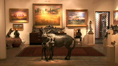 Art Gallery-ws-zooms Stock Footage