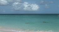 Aruba Beach swimmers-xws Stock Footage