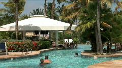 Aruba Resort Pool-zoom Stock Footage