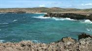 Aruba Sea Cliffs-ws Stock Footage