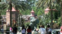 Audubon Zoo Entrance-zooms Stock Footage