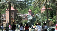 Stock Video Footage of Audubon Zoo Entrance-zooms