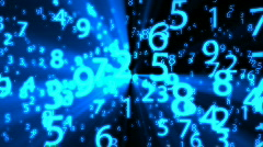 Blue Glowing Numbers - Motion Background 56 (HD) - stock footage