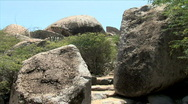 Stock Video Footage of Ayo Rock Path Steps-ws-pans
