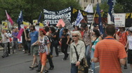 Stock Video Footage of G20 Toronto. Native protest march.