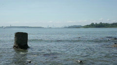 Skyline in distance georges island Stock Footage