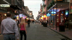 Bourbon Street Afternoon-ws-zoom - stock footage