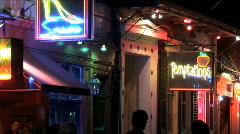 Bourbon Street Neon-ws-zoom - stock footage