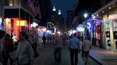 Bourbon Street People-ws-zoom - stock footage