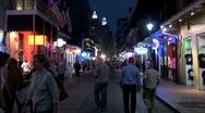 Bourbon Street People-ws-zoom Stock Footage