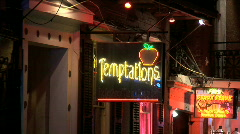 Bourbon Street Temptations Neon-zoom Stock Footage