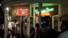 Bourbon Street-Famous Door-zoom - stock footage
