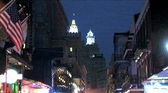 Bourbon Street-tilts - stock footage