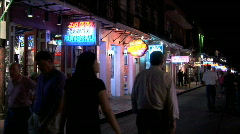 Bourbon Street-ws-pan-zoom - stock footage