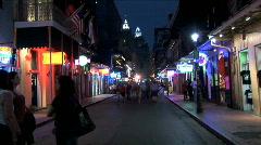 Bourbon Street-ws-zoom - stock footage