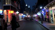 Bourbon Street-ws-zoom Stock Footage