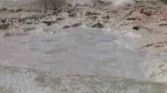 Bubbling Geyser Mud Stock Footage