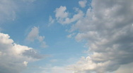 Multilevel white floating clouds on blue sky - motion background Stock Footage