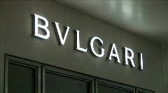 Bvlgari Sign-zooms - stock footage