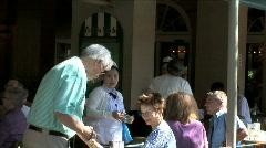 Cafe du Mondo People-pan Stock Footage