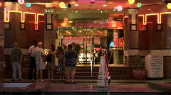 Casino Royale Entrance-Night-zoom Stock Footage