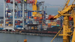 Odessa sea trading port activity timelapse (Full HD) Stock Footage