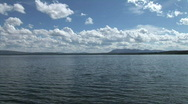 Clouds over Yellowstone Lake-xws Stock Footage