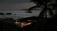 Coastline Club-Catamaran-Night Stock Footage
