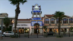 Crystal Casino at Dusk-ws-zoom Stock Footage