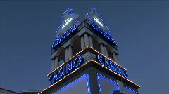 Crystal Casino Sign Stock Footage