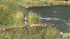 Deer Creek Couple Fishing Stock Footage