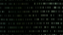Abstract metal matrix,digital chain materials big data scanning storage wall. Stock Footage