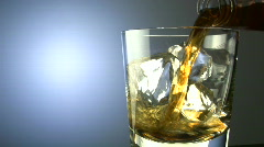 Scotch on the rocks Stock Footage