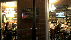 Stock Video Footage of Desire Restaurant from Street-pan