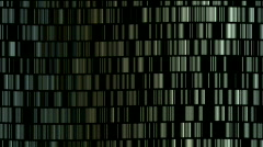 Abstract metal matrix,digital chain materials,big data scanning,storage wall. Stock Footage
