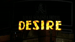 Desire Restaurant-zoom - stock footage