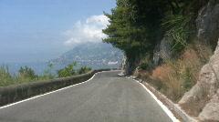 Amalfi coast road Stock Footage