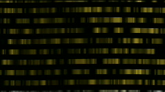 Abstract gold metal matrix digital golden chain materials big data wall. Stock Footage