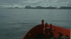 Las Palmas sailing near the coast beagle channel 2 Stock Footage