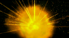 gold sparkle light,explosion,fire.gunpowder,firecrackers,flame,gas,particle,mate - stock footage